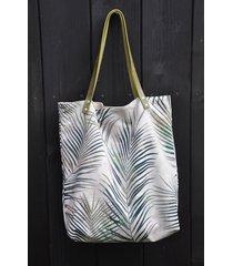 torba tote xxl - print, liście palmy