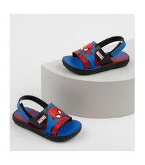 sandália papete infantil grendene marvel homem aranha estampado azul
