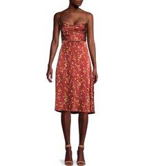 danielle bernstein women's tie-back dress - redwood - size m