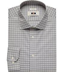 joseph abboud black & gray gingham dress shirt