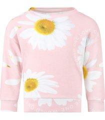molo pink manon sweatshirt for girl