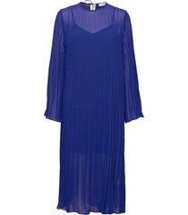 agate jurk knielengte blauw custommade