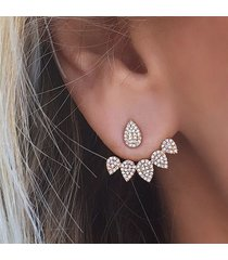 orecchini a chiodo con strass a fiore d'oro e argento accessori di giacca