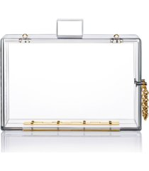 milanblocks transparent acrylic clasp clutch