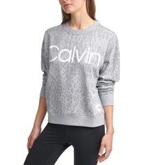 calvin klein printed french terry sweatshirt