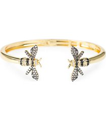 look of real goldplated & cubic zirconia bumblebee cuff bracelet