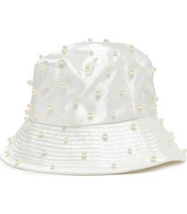 'mallorie' pearl embellished bucket hat