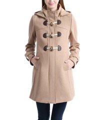 kimi + kai paisley maternity wool blend duffle toggle coat