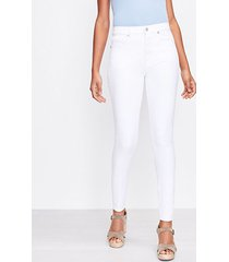 loft curvy high rise skinny jeans in white