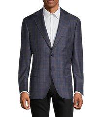 harrison standard-fit windowpane check wool blazer