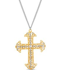 steve madden crucifix pendant necklace