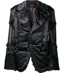 comme des garçons sheer detailed jacket - black