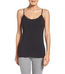 women's pj salvage camisole, size large - black