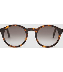 reiss barstow - monokel eyewear keyhole sunglasses in tortoise, mens