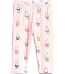 leggings rosa-multicolor gap pink bunny