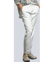 sweatpants alba moda offwhite::goudkleur