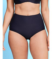 icon texture high waisted bikini brief