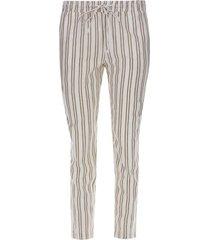 pantalón con cordon doble raya color beige, talla 10