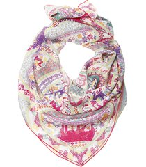 etro silk shawl scarf, decorated