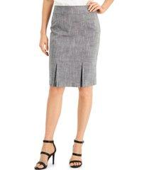 kasper petite pleated skirt