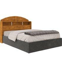 cabeceira box de casal 100% mdf formatta 1.40 nature madeirado robel móveis