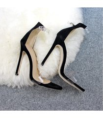 zapatos de mujer transparencias sandalias de gran tamaño