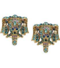 heidi daus women's goldtone & crystal elephant earrings
