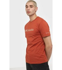 columbia csc basic logo short sleeve t-shirts & linnen red