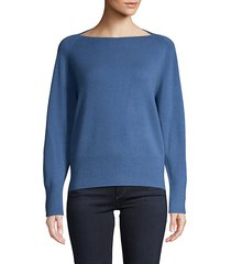 wool & cashmere boat-neck sweater