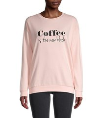 coffee graphic print sweatshirt