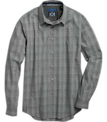 joe joseph abboud repreve® charcoal gray sport shirt