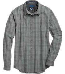 joe joseph abboud repreve® charcoal gray sport shirt