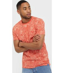 only & sons onscaj slim aop tee nf 6209 t-shirts & linnen rosa