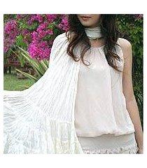 scarf, 'snow white ruffles' (thailand)