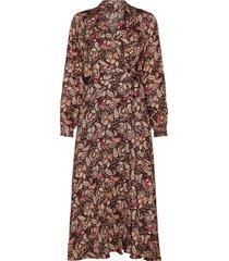 belted midi length wrap dress knälång klänning brun scotch & soda