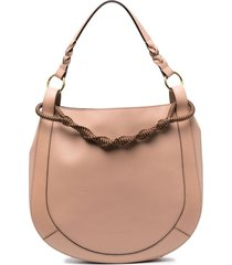 ulla johnson georgia hobo bag - pink