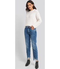 mango brokens jeans - blue