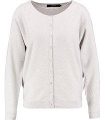 vero moda lichtgrijs oversized vest met zilverdraad