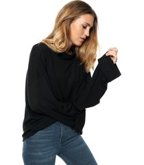sweater negro destino collection lanilla