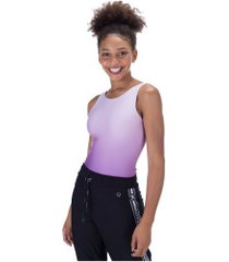 body fitness oxer recortes mesh - feminino - roxo