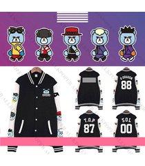 kpop bigbang baseball uniform made gd g-dragon coat varsity jacket outwear