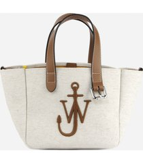 j.w. anderson mini belt tote bag in canvas and leather