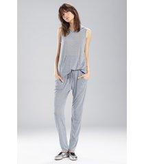 josie heather tees kangaroo pants pajamas, women's, grey, size xs natori
