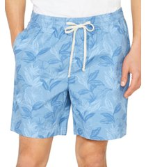 "nautica men's big & tall floral leaf boardwalk 7"" shorts"