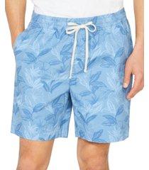 "nautica men's big & tall floral leaf boardwalk 7"" shorts"