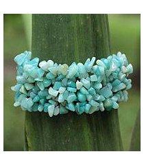 amazonite stretch bracelet, 'light of hope' (brazil)