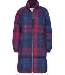 tjw check puffa coat gevoerde lange jas multi/patroon tommy jeans