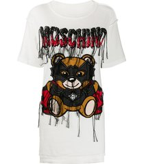 moschino bat teddy bear t-shirt - white