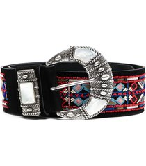etro bead-embellished belt - black