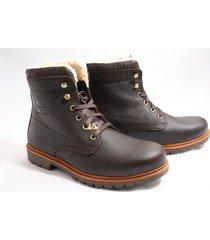 panama jack panama 03 aviator boots sportief bruin